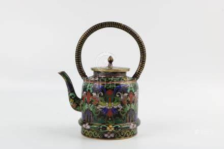 Period of ChuangHui Cloisonne Teapot