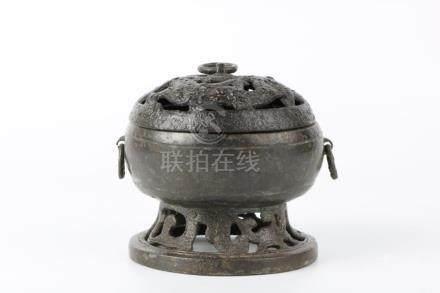 Ming Dynasty imitated Han Bronze Incense Burner