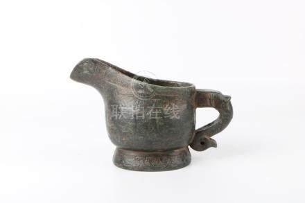 Ming Dynasty imitated Han Bronze Jar