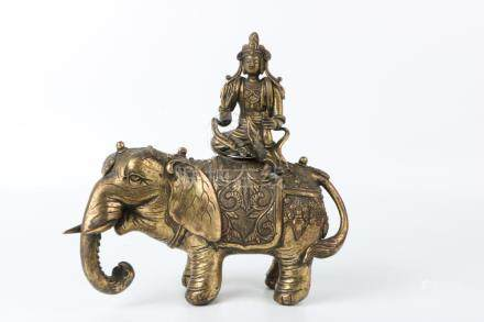 Qing Dynasty Bronze Gold Gilded Buddha Statue