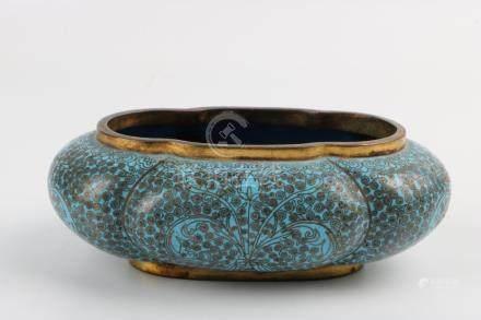 Qing Dynasty cloisonne jar