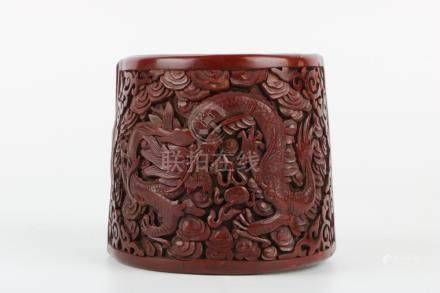 Qing dynasty lacquer carved bracelet