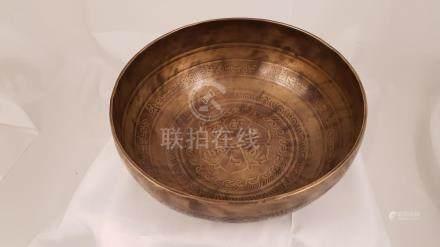 Tibetan Singing Bowls 19th Hammered Nepal Tibet Seven Planet