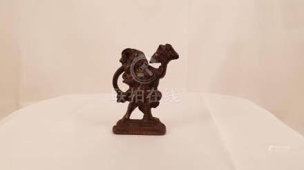 India bronze Hanuman Hindu God early 20th lost wax casting p