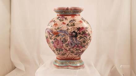 Chinese porcelain ovoid shape 1950 Dragon Lotus