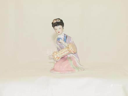 Shiwan statue chinese woman play music