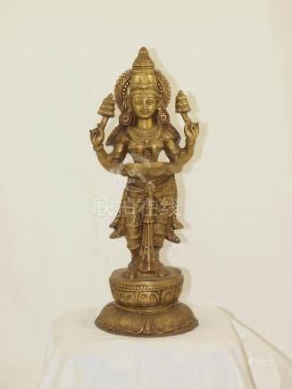 India big bronze statue Lakshmi God of prosperity