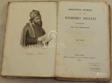 History Diodoro Siculo 1820 Mesopotamia, India, Scizia and A