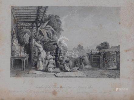 Animated view offering to God altar China 1845 Fox