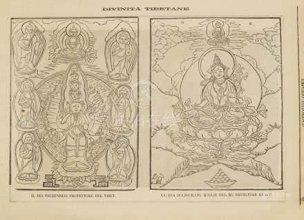 Print two Tibetan gods God Tschenresi and God Doldschang 188