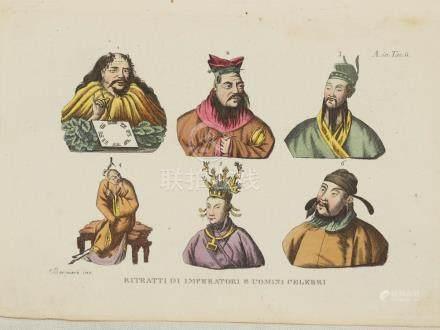 Portraits famous Emperors and Men China Bernieri 1825