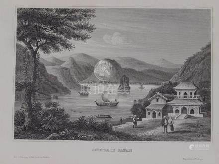 Animated view Shimoda in Shizuoka prefecture Japan 1850