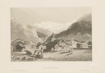 Animated view Himalaya India 1860