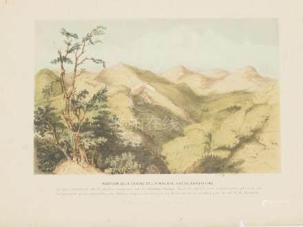 View Chain of Himalaya, Darjeeling India 1860 Lithography