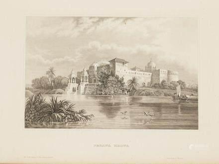 Animated View Perawa palace in Malwa India 1860