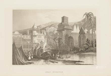 Animated View Haridwar India 1860