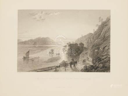 Animated View plains Haridwar, Ganges river Ganga India 1845