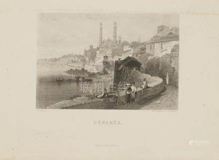 Animated View Benares Varanasi India 1845 Goodall