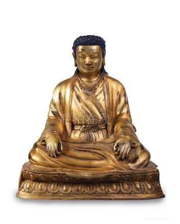 « MARPA LOTSAWA » en bronze doré.  Tibet XXe siècle (traducteur des textes boud