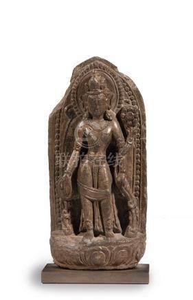PADMAPANI en schiste. (c'est la forme principale d'Avalokitesvara, le bodhisatt