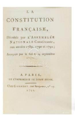 La Constitution Française, décrétée par l'Assemblée NationaleConstituante aux a