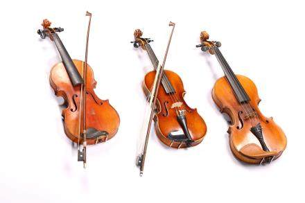 A GROUP OF THREE VINTAGE VIOLINS