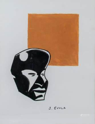 Julius Evola Italian Pop Art Mixed Media/Paper