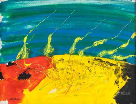Howard Hodgkin British Abstract Acrylic on Canvas