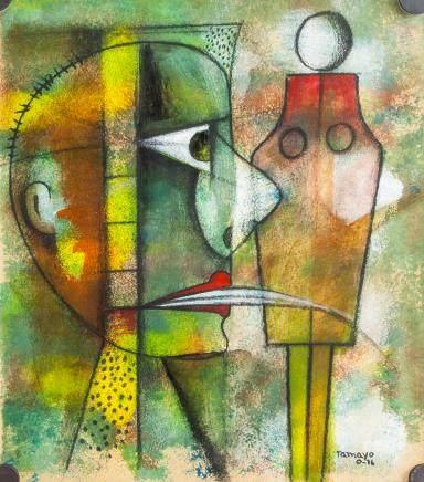 Rufino Tamayo Mexican Pastel Paper Abstract
