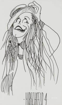 Albert Hirschfeld American Pop Art Ink on Paper