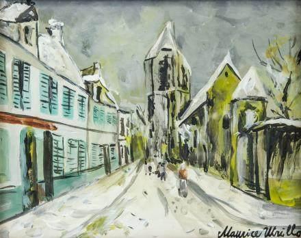 Maurice Utrillo French Paris School Tempera