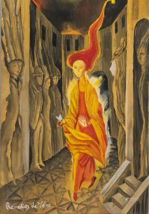 Remedios Varo Spanish Surrealist Gouache Paper