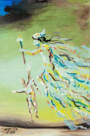 Salvador Dali Spanish Surrealist Tempera Paper 196