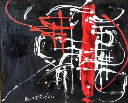 Georges Mathieu French Lyrical Abstractionist OOC