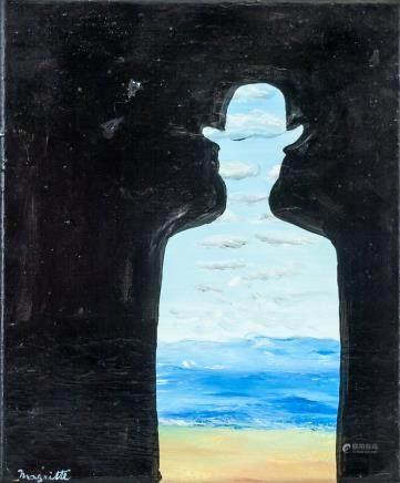 Rene Magritte Belgian Surrealist Oil on Canvas