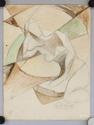 George Braque French Fauvist Mixed Media