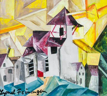 Lyonel Feininger German-US Oil & Tempera