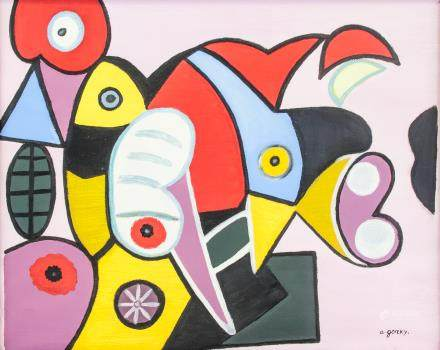 Arshile Gorky American Abtract Acrylic on Canvas