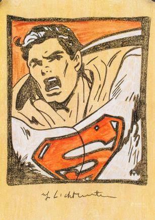 Roy Lichtenstein US Pop Art Mixed Media Superman