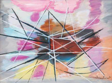 Jimmy Ernst American-German Surrealist Oil Canvas