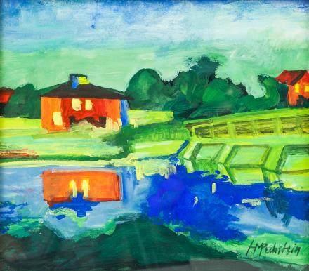 Max Pechstein German Expressionist Gouache Paper