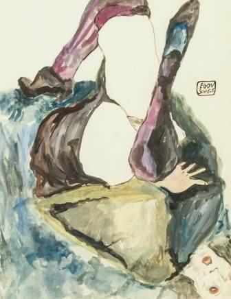 Egon Schiele Austrian Expressionist WC Portrait