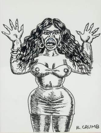 Robert Crumb American Pop Art Ink on Paper