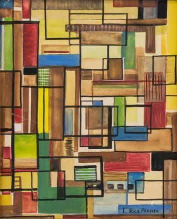 Irene Rice Pereira American Bauhaus Oil on Board