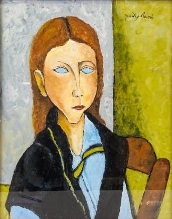Amedeo Modigliani Italian Cubist School Oil