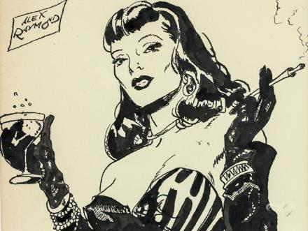 Alex Raymond American Pop Art Ink on Paper