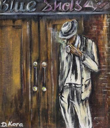 Framed Oil on Canvas Portrait Signed D. Kora