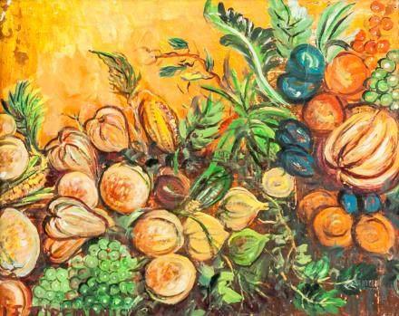 Janis Tidemanis Latvian Modernist Oil on Canvas