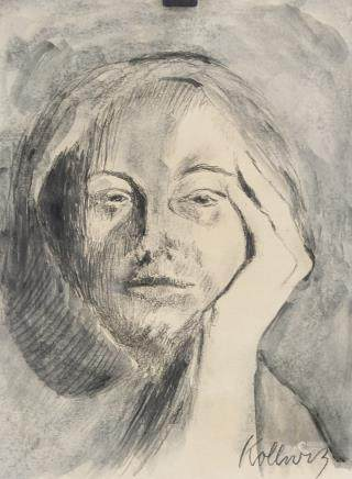 Kathe Kollwitz German Expressionist Charcoal & WC