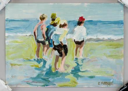 Edward Henry Potthast US Impressionist Oil/Paper
